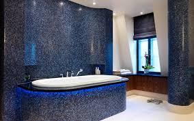 pixilated bathroom design made with mosaic tiles house blue bathroom ideas terrys fabrics