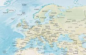 europe phisical map europe physical map mapsof net