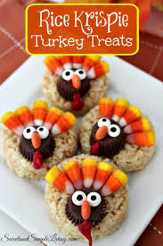 turkey cookies for thanksgiving rice krispie turkey treats sweet and simple living