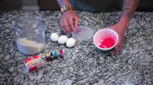 using rice and food color to dye easter eggs youtube