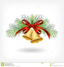 bells with tree decorations stock image image 34960747