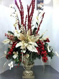 christmas table flower arrangement ideas christmas silk flower arrangements fancy idea floral decorations for