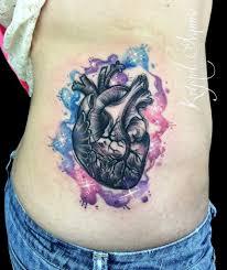anatomical heart tattoo watercolor tattoos by krystel ivannie