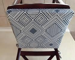 geometric print seat cushion cover kitchen chair pad