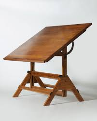 Large Drafting Table Flux Large Vintage Oak Drafting Table