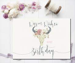 best friend birthday card happy birthday card boho greeting card