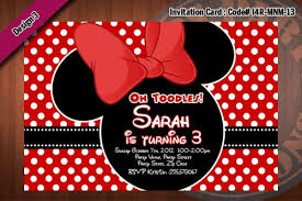 minnie mouse thank you cards minnie mouse invitation minnie mouse birthday polkadots