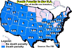 map usa penalty us states penalty map capital laws usa map