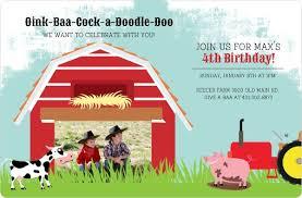 on the farm birthday invitation birthday invitations