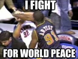 Metta World Peace Meme - metta world peace elbows james harden in the head realcavsfans forum
