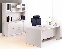 premium white executive desk with credenza u0026 hutch u2013 officedesk com