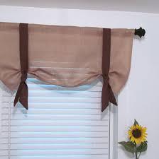 burlap window treatments decorative london valance natural with