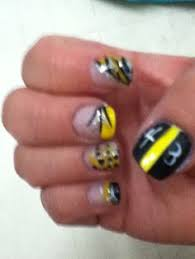 pittsburgh steelers glitter nails my work pinterest nails