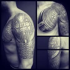 chest u0026 sleeve tribal tattoo tattoo not tribal pinterest