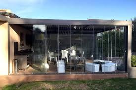 pare vent verre le coulissant panoramique en verre
