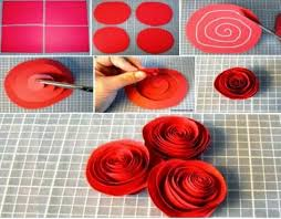 tutorial kerajinan tangan dari kertas gulung tips cara membuat bunga kertas ragam kerajinan tangan