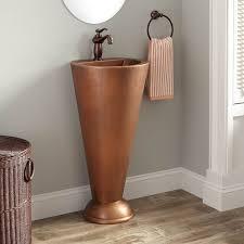 Contemporary Pedestal Sink Bathroom Contemporary Pedestal Sink Signature Hardware