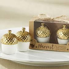 wedding salt and pepper shakers gold dipped ceramic acorn salt pepper shaker gold theme