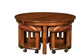 coffee table and stool set amish mission round coffee table and stool set with hydraulic lift