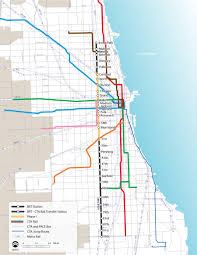 Chicago Community Map by Cta Ashland Brt Bus Rapid Transit