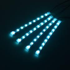 Blue Led Light Strip by Aliexpress Com Buy 4 Pieces Dc 12v Car Interior Led Lights Ice