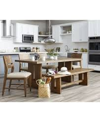 kitchen furniture sets athena 6 pc dining set dining trestle table 4 side chairs bench