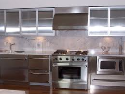 interior awesome metal kitchen cabinets design in open