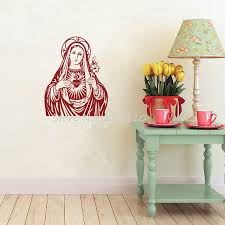 aliexpress com buy the heart of virgin mary wall sticker home