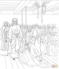 Jesus Healed The Blind Man Jesus Heals The Paralyzed Man Coloring Page Free Printable