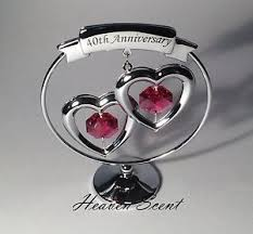 40th anniversary gift ideas 40th ruby wedding anniversary gift ideas with swarovski crystals