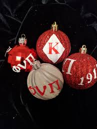 four 4 assorted fraternity ornaments inspired by kappa alpha