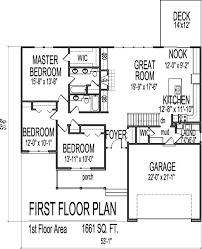 stylish ideas 3 bedroom with basement house plans floor 2 bath