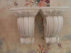 Curtain Rod Sconce Pair Of Shabby Decorative Curtain Rod Sconce Holders Cottage