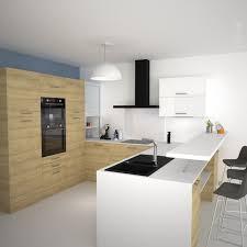plan de travail snack cuisine cuisine tendance bois modèle hosta chêne naturel kitchens and house