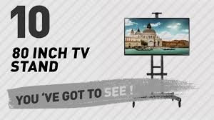 Discount North Bayou Universal Mobile Tv Cart Tv Stand With Wheels For 55 80 Inch Lcd Led Oled Plasma Flat Panel Screens Up To 200lbs Ava1800 70 1p Black 80 Inch Tv Stand New U0026 Popular 2017 Youtube