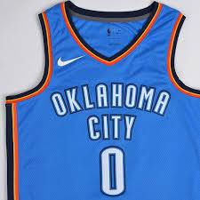 nike nba swingman jersey westbrook okc thunder icon signal blue