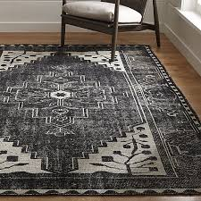 Oriental Rugs For Sale By Owner Anice Black Oriental Rug Crate And Barrel