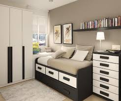 Dark Furniture In Modern Small Bedroom Interior Design Home - Modern small bedroom design