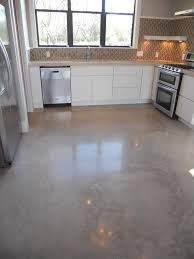 Polished Kitchen Floor Tiles - acid wash concrete kitchen contemporary with concrete floors