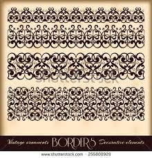 vintage ornaments page decoration exclusive highest stock vector