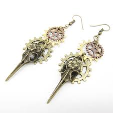 ear ring photo multi gears fashionable steunk earring