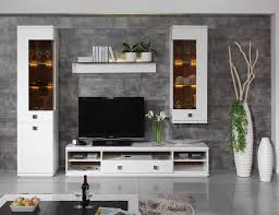 awesome modern small living room with trendy white wall cabinet