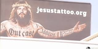 tattooed jesus on billboards sparks controversy in texas video