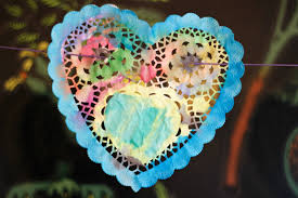 heart shaped doilies sisterhood of the traveling hearts