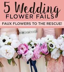 Faux Flowers 5 Wedding Flower Fails U2013 Faux Flowers To The Rescue Afloral Com