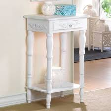 Small Accent Table Cosenza Antique White Accent Table With Drawer