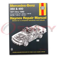 mercedes 450sl haynes repair manual base shop service garage book