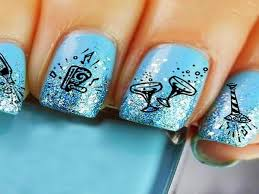 Silver And Blue New Years Eve Decorations by 13 Neat New Year U0027s Nail Designs