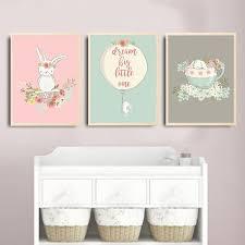 chambre lapin décoration poster toile lapin ballon fleurs big one