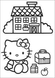 coloring page house coloring for kids house with coloring page